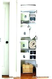 linen storage ideas bathroom closet ideas linen storage no linen closet storage ideas