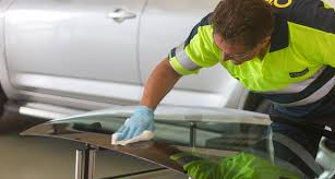 o brien technician cleaning glass