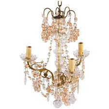 1930 s french crystal chandelier with glass gs
