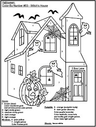Small Picture Halloween Color By Number Printables Coloring Pages Kids