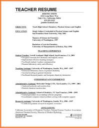 Doc Resume Format For Teacher Post Teaching For Teacher Bunch Ideas