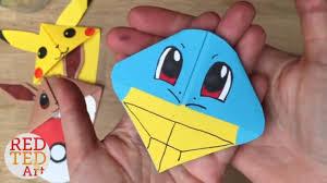 easy le diy pokemon bookmarks origami inspired pokemon go you