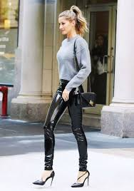 leather pants outfit ideas for women