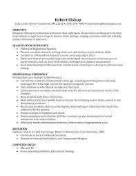 Childcare Resume Cover Letter Sample Resume With Nanny Experience New Basic Nanny Resume Example 36