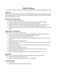 Basic Sample Resume Sample Resume With Nanny Experience New Basic Nanny Resume Example 46