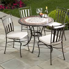 patio chairs wrought iron marble mosaic new ideas for dining set 11