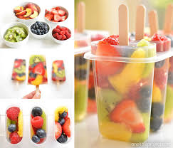 these fresh fruit popsicles are so pretty what a delicious and refreshing treat idea for