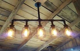 pipe ceiling light industrial lighting chandelier listed rustic image 0 copper