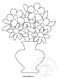 Small Picture Flowers Pot Coloring Page