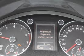 2010 Volkswagen Jetta Warning Lights Dealing With Low Oil Pressure On A Vw Cc Tsi