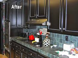 before and after pictures of kitchen cabinets painted black