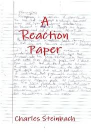 how to write a personal a reaction paper determine why that material stands out and make another note of what you figure out say a man goes to a party and immediately noticed a w at the other
