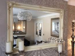 fabulous large cream decorative stunning shabby chic wall mirror free p p