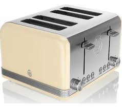 Retro Toasters buy swan retro st19020cn 4slice toaster cream free delivery 6956 by xevi.us