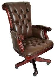brown leather office chair. Brown Office Chair No Arms Leather Desk Regal With Wood Trim Traditional Chairs