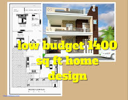 house plans on a budget new 3 bed room 1500 square feet house plan architecture kerala