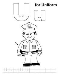 Uniform Alphabet Coloring Pages Free | Alphabet Coloring pages of ...