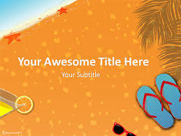 Summer Powerpoint Templates Summer Vacation Powerpoint Template Download Free