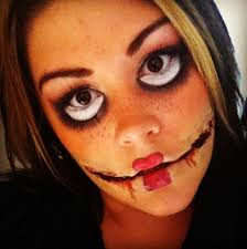 dead doll make up i simply used kleenex and glue to create the