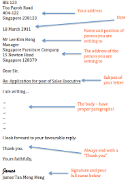 Functional Writing Format Formal Letter An Eye For English
