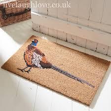 Decorating coir door mats pics : Coir Door Mat - Pheasant | Live laugh love