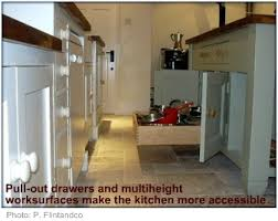 Wheelchair Accessible Kitchen Pull Out Drawer