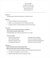 Objective For Education Resume Resumes For Teachers Examples Elementary Education Resume Fresh