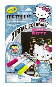 They love hello kitty coloring pages as these allow them to spend some quality time with their favorite cute bobcat while playing with colors and shades. Crayola Metallic Extreme Hello Kitty Coloring Pages And Markers Binney Smith 74 5002 Arts Crafts Drawing Painting Supplies