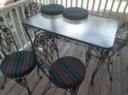 4 piece rust patina wrought iron patio