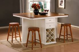 Small Picture perfect kitchen island idea with wooden countertop counter height