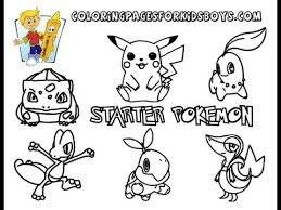 Small Picture ColoringBuddyMike Starter Pokemon Coloring Pages To Print YouTube