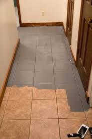 tile floor. How To Paint Bathroom Tile Floor Faux Cement Painted Floors Bright Green Door