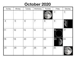 October 2018 Moon Calendar Free Printable 2019 Calendar