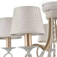 Casa Padrino Barock Kristall Kronleuchter 5 Flammig Weiß Gold ø 65 H 57 Cm Barockstil Möbel