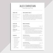 Modern Nurse Resume Format Word Modern Resume Template Professional Resume Template