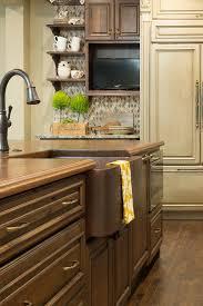 kitchen remdodel dark cabinets island farmhouse sink