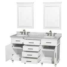 image of white 60 inch bathroom vanity double sink