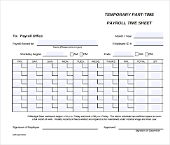 24 Payroll Timesheet Templates Samples Doc Pdf Excel