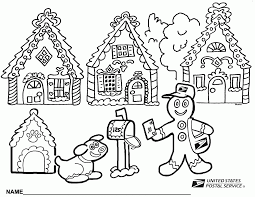 Santa Claus House Coloring Pages Photo 24 Gingerbread House