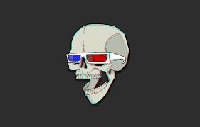 Wallpaper Red, Blue, Skull, Humor ...