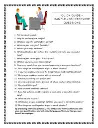 job interview template job interview questions job interview questions sample image