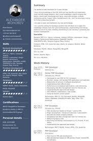 Php Developer Resume Samples Visualcv Resume Samples Database