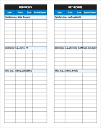 Microsoft Word Template Checklist Microsoft Word Home Inventory Template Sample Checklist In