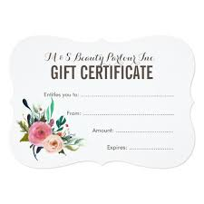 gift card template certificate templates gifts on zazzle