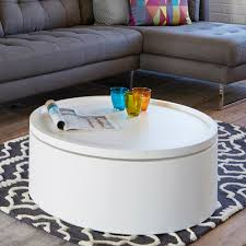 drum coffee table. Drum Lift Coffee Table White