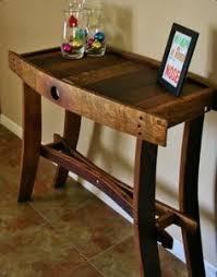 furniture made from wine barrels. A Wine Barrel Made Into Entry Way Table. Furniture From Barrels P