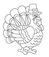 Free Coloring Pages Thanksgiving Turkey Printable Cute Colouring