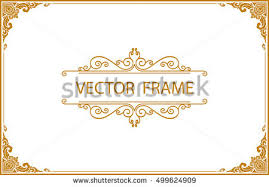 Gold Frame Border Vector Stock Images Royalty Free Images Vectors