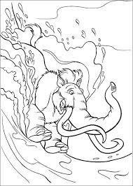 Kleurplaat Disney Kleurplaat Ice Age 2 Animaatjesnl