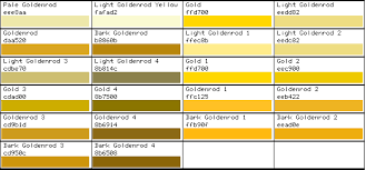 Html Color Code Gold Pantone Color Chart Gold Pantone